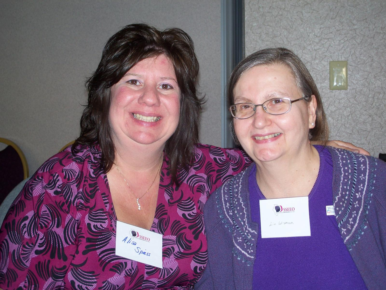 LIN AND LISA AT THE STROKE CONVENTION