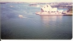 From the top of the sydney harbour bridge