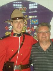 Lenny's son Michael's RCMP graduation
