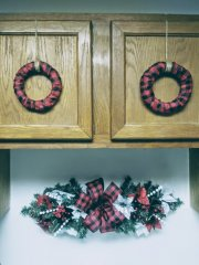 Above the Kitchen Sink Decor (NEW DIY cabinet door wreathes and updated DIY swag)