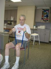 Eddie working hard in Physical Therapy