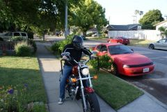 Dad talked me into riding his Harley, 8 months after my stro