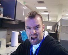 Crazy face after my mohawk.