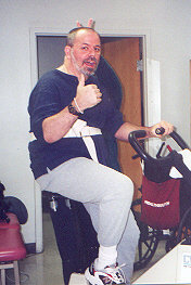 exercise bike at therapy hospital
