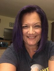 finally got the purple hair that was in my heart